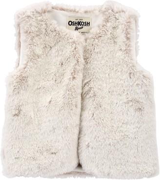 Osh Kosh Toddler Girl OshKosh Bgosh Faux Fur Vest