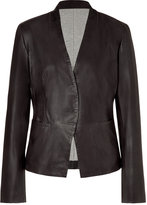 Slate Leather Blazer