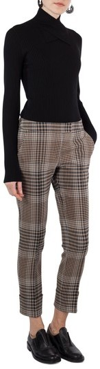 Akris Punto Women's Frankie Glen Check Pants