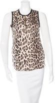 L'Agence Leopard Print Sleeveless Top