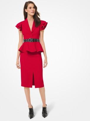 Michael Kors Collection Double Crepe Sable Slit-Front Pencil Skirt