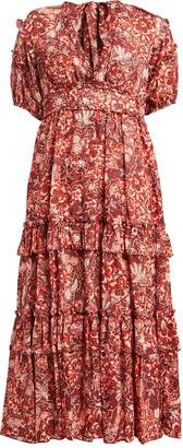 Ulla Johnson Amora Tiered Floral Maxi Dress