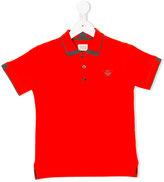 Armani Junior logo front polo shirt - kids - Cotton - 4 yrs
