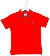 Armani Junior logo front polo shirt