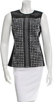 Reed Krakoff Embroidered Mesh-Trimmed Top
