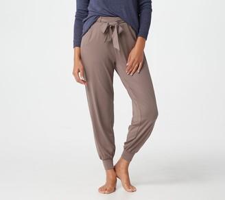 AnyBody Cozy Knit Jogger Pants w/ Tie Waistband