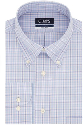 Chaps Men's Slim-Fit Non-Iron Button-Down Collar Dress Shirt
