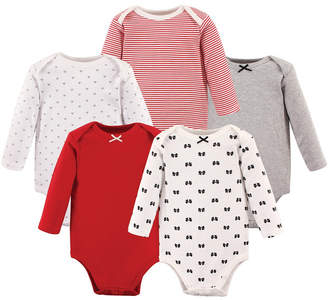 Hudson Baby Long-Sleeve Bodysuits, 5-Pack, 0-24 Months