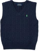 Ralph Lauren 2-7 Cable-Knit Cotton Sweater Vest