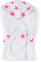 Aden Anais White & Fuchsia Stars Muslin Bath Wrap