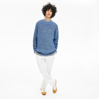 Lacoste Men's LIVE Ribbed Heathered Cotton Crewneck Sweater