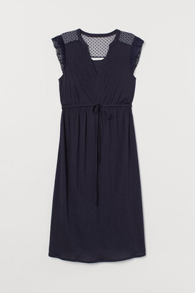 H&M MAMA Dress with Lace - Blue