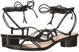 J.Crew Leather Lace-Up Strappy Alyssa Sandal (Black) Women's Sandals