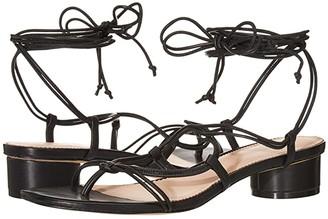 J.Crew Leather Lace-Up Strappy Alyssa Sandal (Black) Women's Sandals