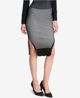 DKNY Striped Midi Skirt