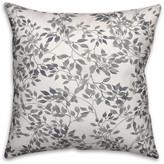 "Ddcg Gray Leaf Lattice Spun Poly Pillow, 18""x18"""