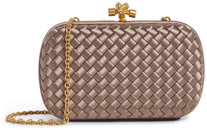 Bottega Veneta Silk Knot Clutch Bag