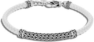 John Hardy Classic Chain Woven Leather Bracelet, Size M