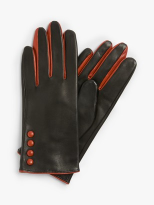 John Lewis & Partners 4 Button Colour Pop Leather Gloves
