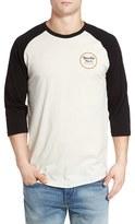 Brixton Men's 'Wheeler' Three-Quarter Raglan Baseball T-Shirt