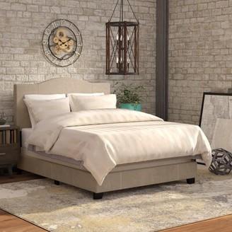 Andover Mills Nauvoo Upholstered Panel Bed Size: Queen, Color: Sand Beige Denim