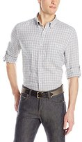 Kenneth Cole New York Kenneth Cole Men's Long Sleeve Linen Check Shirt