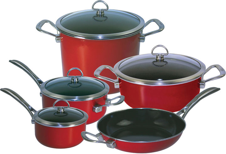 Chantal Copper Fusion 9-pc. Nonstick Cookware Set
