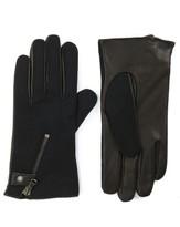 John Varvatos Men's Wool Blend Zip Gloves