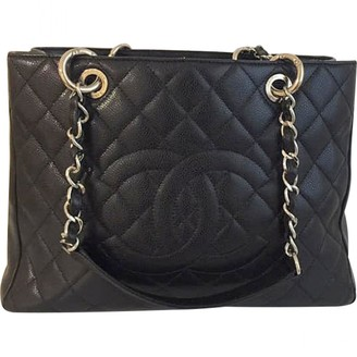 Chanel Grand shopping Black Leather Handbags