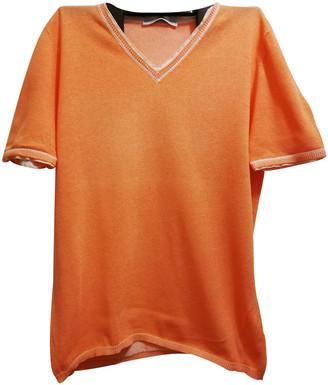 Brunello Cucinelli Orange Cotton Knitwear