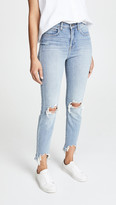L'Agence Highline High Rise Skinny Jeans with Hem Destruction