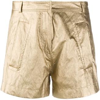 Philosophy di Lorenzo Serafini Laminated High-Waisted Shorts