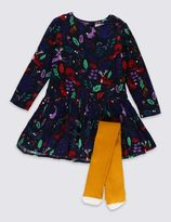 Marks and Spencer 2 Piece Dress with Tights (1-7 Years)