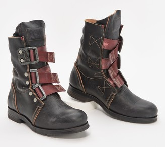 Fly London Leather Buckle Mid Boots - Stif