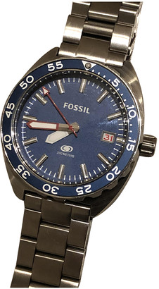 Fossil Blue Silver Watches