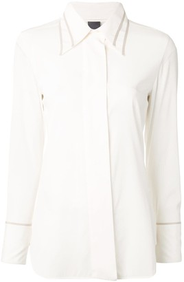 Lorena Antoniazzi Contrast Piping Slim-Fit Shirt