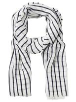Jeanswest Cody Scarf-White/Navy-00