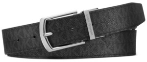 Michael Kors Men's Signature Leather Belt