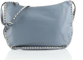 Valentino Rockstud Half Moon Messenger Leather Large