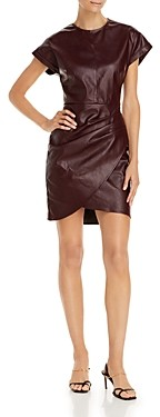 Lucy Paris Ruched Faux Leather Dress - 100% Exclusive