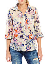 Chelsea & Violet Wild Roses Button Down