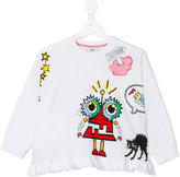 Fendi printed sweatshirt - kids - Cotton/Modal - 4 yrs