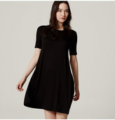 LOFT Tall Short Sleeve Trapeze Dress