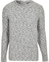 River Island Mens Blue knitted crew neck jumper