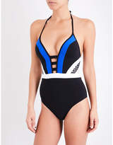 Jets Deluxe plunge swimsuit