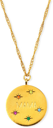 Tai MAMA Coin Pendant Necklace w/ Cubic Zirconia