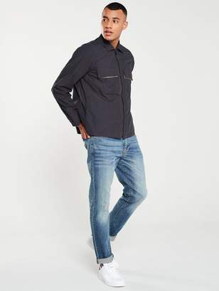 BOSS Lovel Zip Through Overshirt- Black