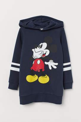 H&M Long Printed Hooded Sweatshirt