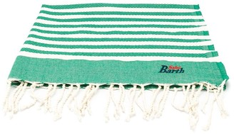 Mc2 Saint Barth Kids Striped Logo Beach Towel