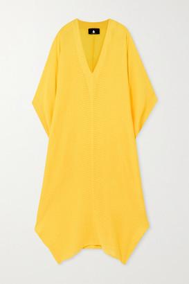 SU PARIS Bahia Striped Cotton-gauze Kaftan - Yellow